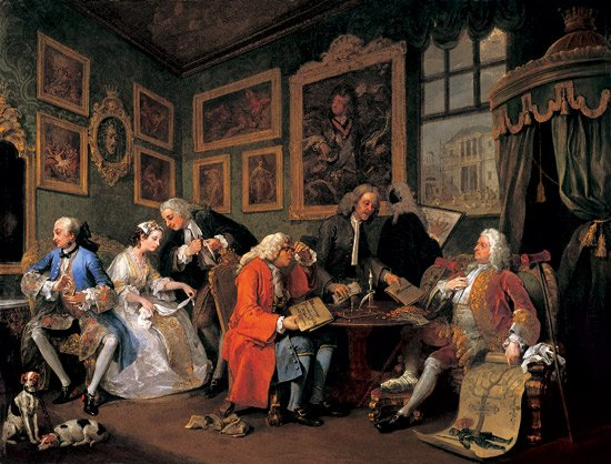 william hogarth  marriage a-la mode_ 1. the marriage settlement