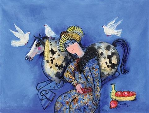 nasser-ovissi-man-with-horse-and-doves