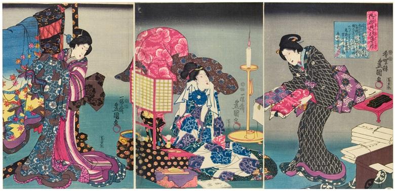 fashionablebrocadepatternsoftheimperialpalacewoodblockprintmadebyutagawakunisada184718522400