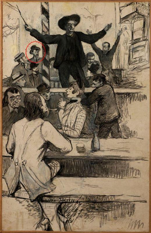حضور ونگوگ در طراحی از هانری تولوز لوترک