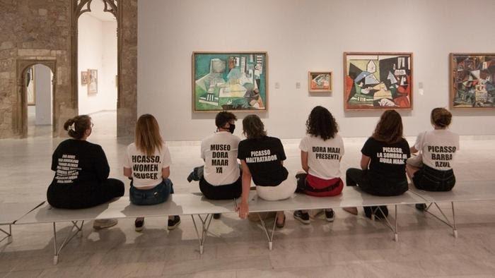 جنبش اعتراضی در موزهای در اسپانیا «پیکاسو، آزارگر زنان»