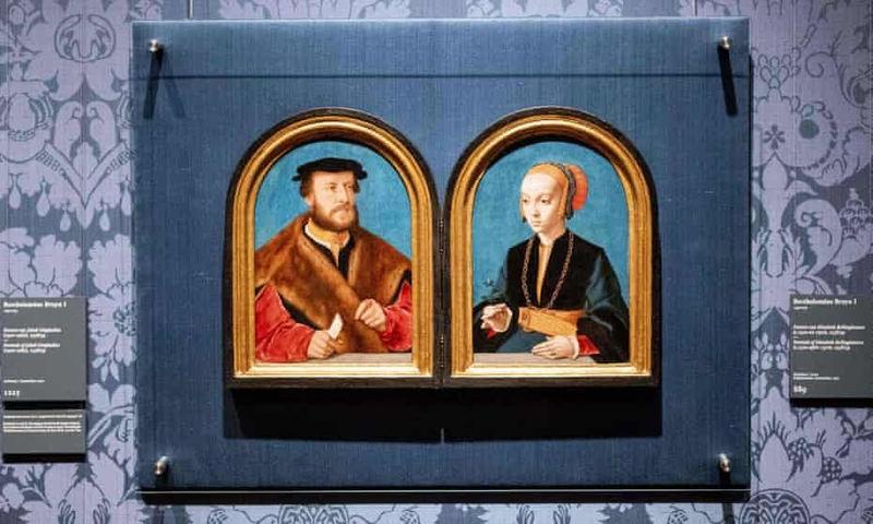 نقاشی دو بخشی از یک زوج مربوط به دوران رنسانس بعد از ۱۲۵ سال جدایی کنار هم قرار گرفت