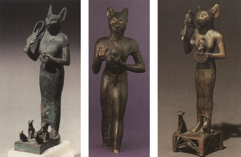 گربههای مقدس مصر در مجسمهها و نقوش باستانی