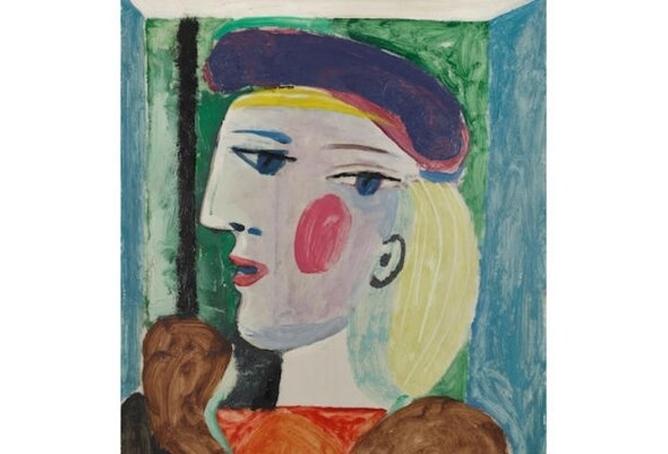 حراج چند میلیون دلاری تابلو نقاشی «زنی با کلاه بِرِه بنفش» اثری از پیکاسو
