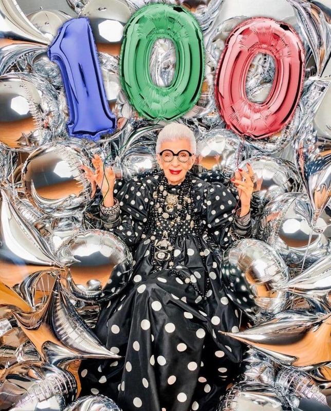 آیریس اپفل، ملکه مد و فشن،  100 ساله شد