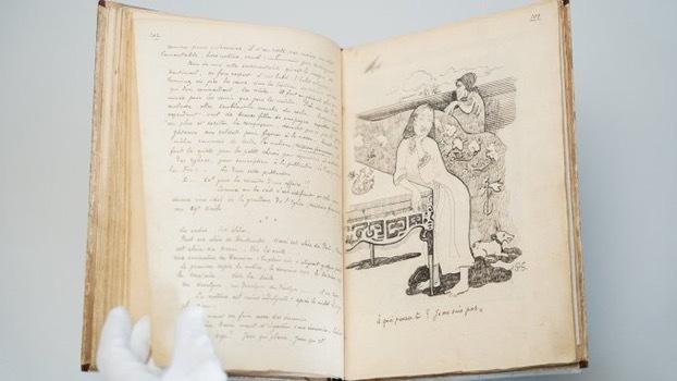 نسخه اصلی زندگی نامه دست نویس گوگن که پیش از این چاپ شده بود، در انگلیس به نمایش درمیآید