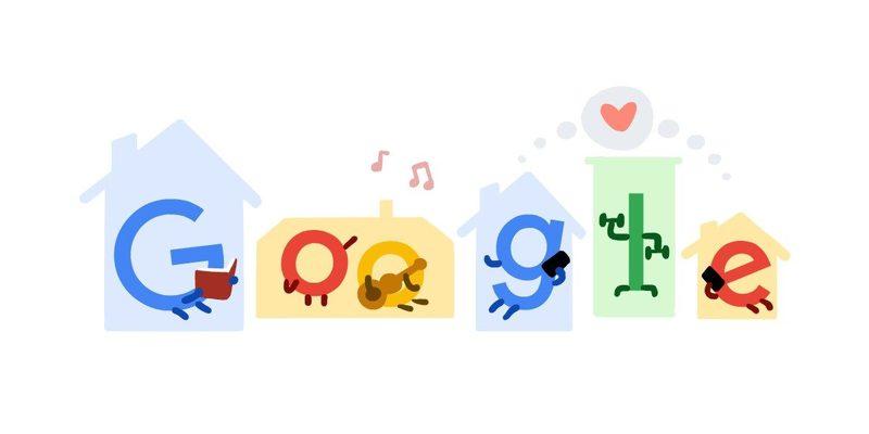 لوگوی گوگل از قهرمانان روزهای اپیدمی کرونا قدردانی میکند