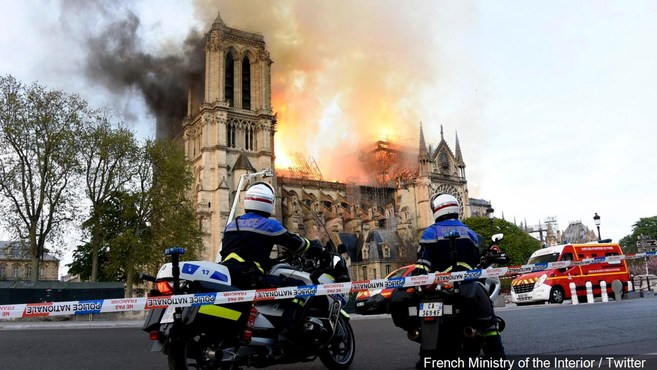 French+Ministry+of+the+Interior++Twitter+mgn+notre+dame+fire