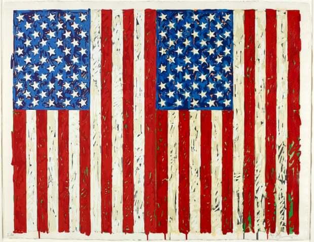نسخهای از «پرچمها» اثری از هنرمند آمریکایی جسپر جانز به موزه بریتانیا اهدا شد