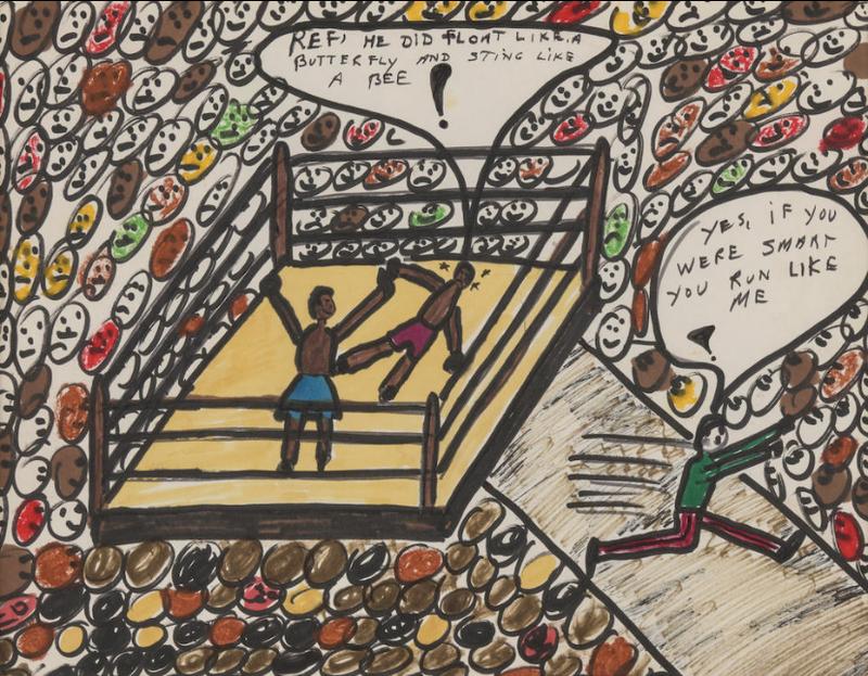 تابلوهای نقاشی محمدعلی کلی اسطوره بوکس جهان به مزایده گذاشته میشوند