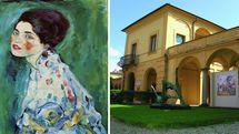 پرتره یک بانو تابلوی نقاشی دزدیده شده گوستاو کلیمت در موزه ریچی اودی ایتالیا به نمایش درمیآید
