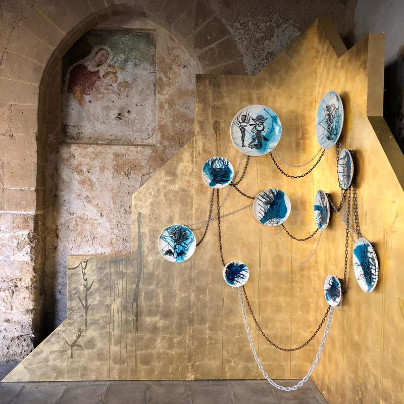 چیدمانهای نوید عظیمی سجادی در کلیسای جامع مونرئاله و کاخ زیسا در پالرموی ایتالیا
