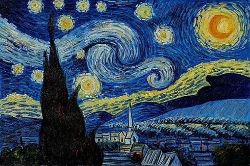 نگاهی به تابلو نقاشی شب پر ستاره