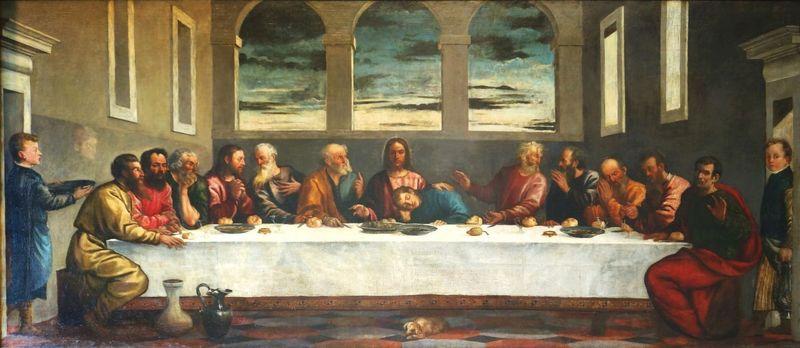 تابلوی شام اخر در کلیسایی در انگلیس اثر تیسین است