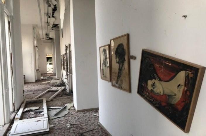 ویرانی گالریهای بیروت بعد از انفجار بزرگ