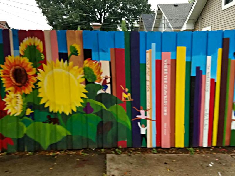 حماسه ایرانی گوراوغلو و قیرام بر دیواری در شهر مینیاپولیس نقاشی شد